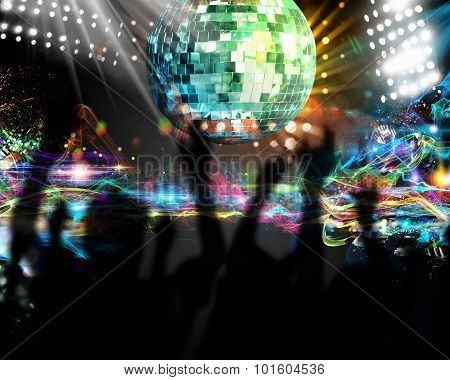 Dancing in nightclub