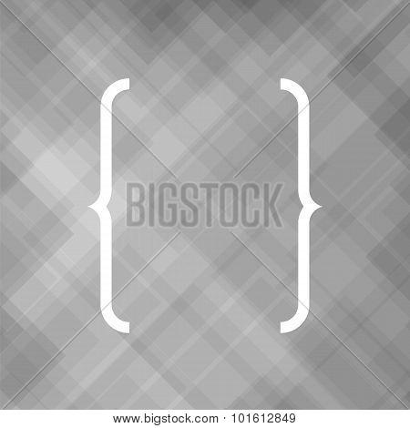 Curly Bracket Icon