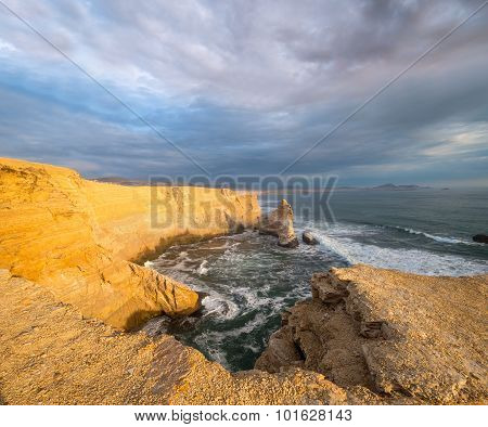 Cathedral Rock Formation, Peruvian Coastline