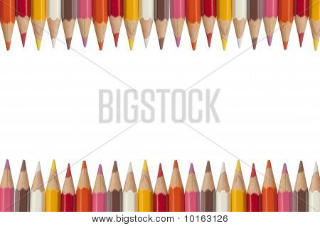 Colorful Pencil As White Isolate Background