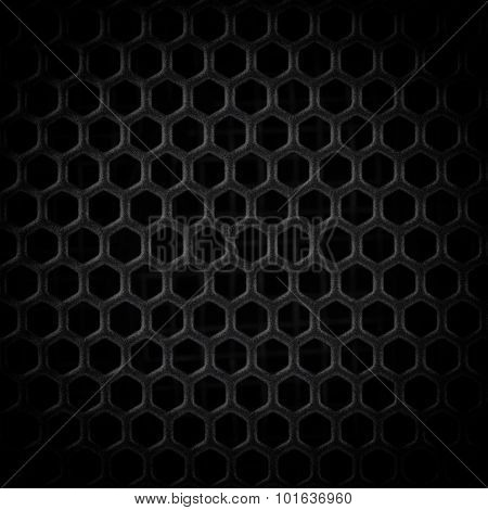 Abstract Steel Or Metal Textured Pattern With Hexagonal Cells