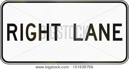 Right Lane In Canada