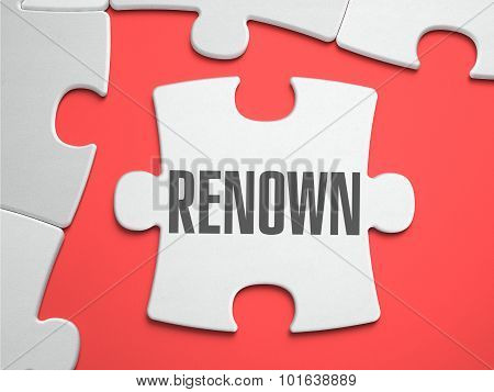 Renown - Puzzle on the Place of Missing Pieces.