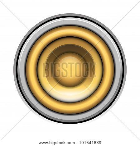 Sound-system Speaker Vector  Illustration Icon Over White