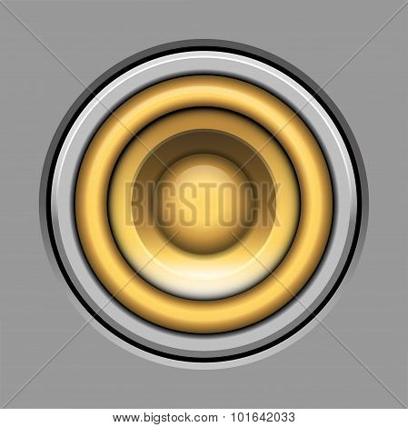Sound-system Speaker Vector  Illustration Icon Over Gray
