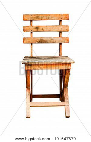 The Single Chair On White Isolate Background With Clipping Path.