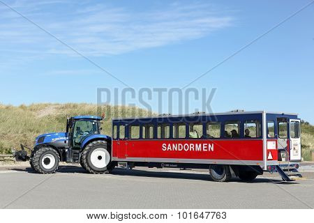The sandormen tractor in Grenen, Denmark