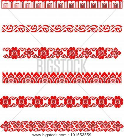 Line pattern Asian traditional art Design Vector, Thai traditional design ( Lai Thai pattern )