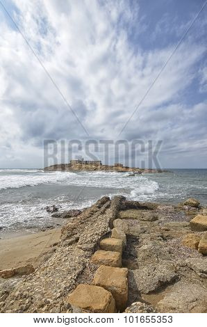 View of the Islet of currents in Sicily poster