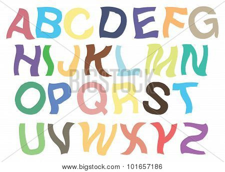 Trembling Alphabets Vector Font Design