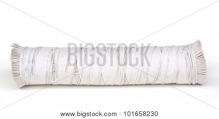 white bungy rope isolated on white.
