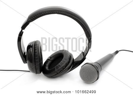 Wired Headphones And A Microphone