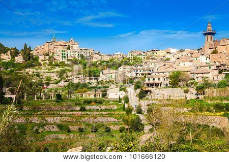 Small Village Valldemossa On The Hill