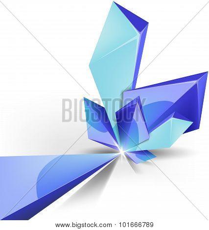 Blue Crystal Background