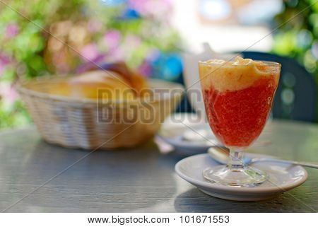 Granita siciliana di fragole
