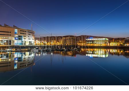Belfast city at night