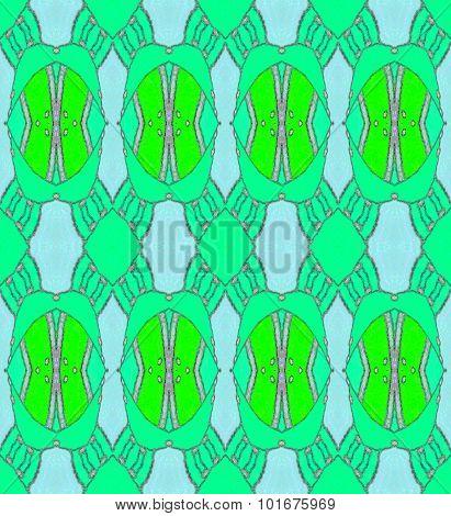 Seamless ellipses pattern green blue