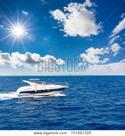 amazing view of the speed boat