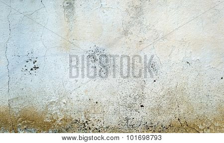 Cracked Concrete Painted Wall Background