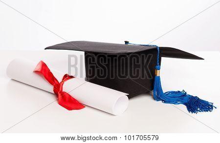 Graduation Cap And Diploma