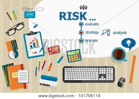 Risk And Flat Design Illustration Concepts