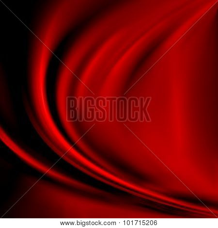 Abstract red background cloth or liquid wave illustration of wavy folds of silk texture satin or velvet material or red luxurious Christmas background wallpaper design of elegant curves red material