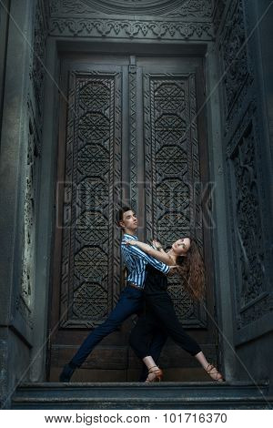 Beautiful Couple Dancing Tango.