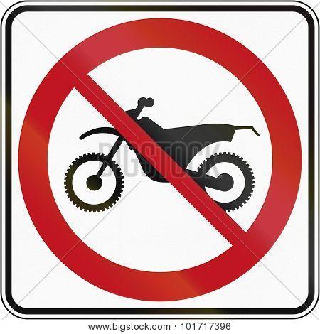 No Dirt Bikes In Canada
