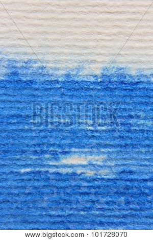 Macro Blue Watercolor on Textured paper 5