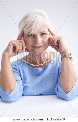 Beauty Portrait Of Elegant Senior Woman.