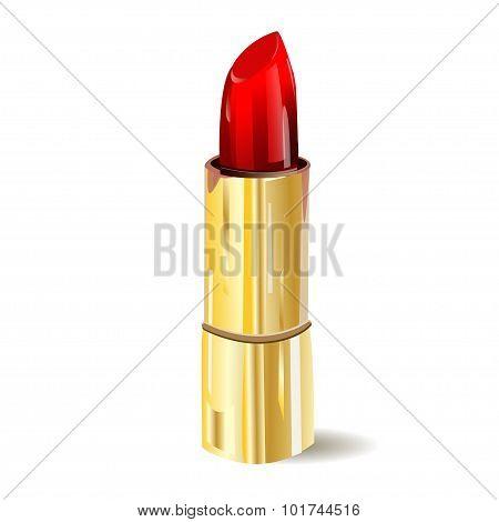 Lipstick isolated on white background. Vector illustration. Pomade icon.
