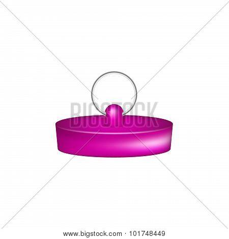 Rubber plug in purple design