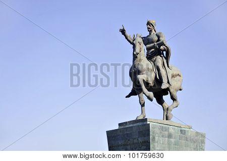 David The Builder Statue In Tbilisi