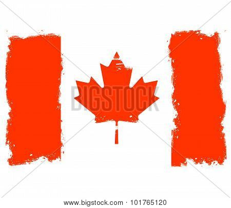 Threadbare flag of Canada