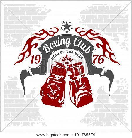 Boxing emblem. Vector stock.