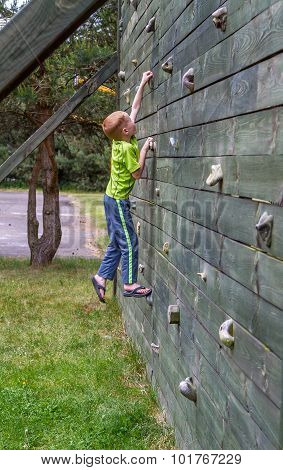 Climbing on a wall