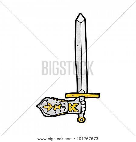 cartoon sword and hand