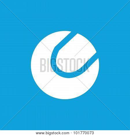 Tennis ball icon, simple