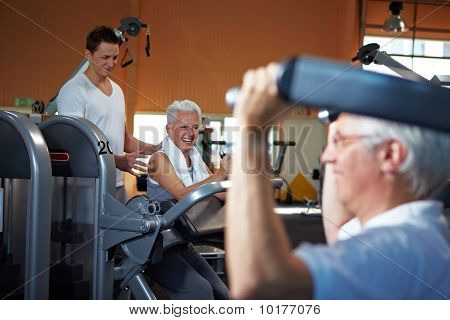 Fitness Trainer Coaching Senior People