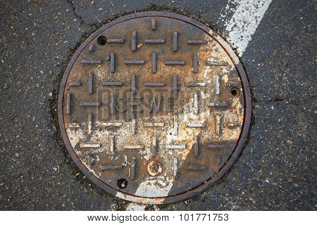 old round sewer