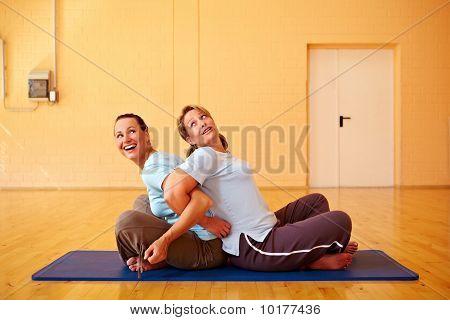 Women Having Fun In Gym