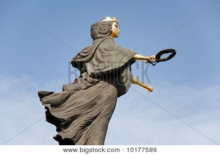 Holy Wisdom statue in Sofia