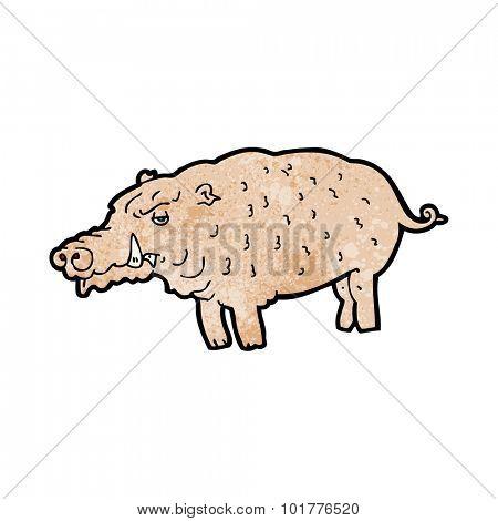 cartoon hog