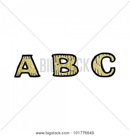 A B C cartoon