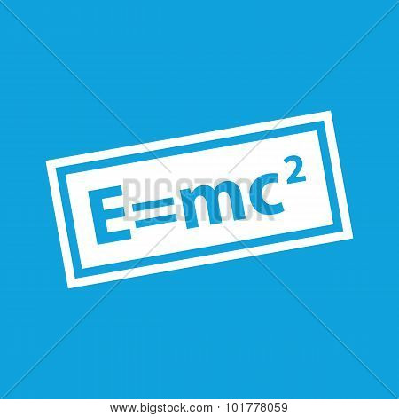 Energy equivalence icon, simple