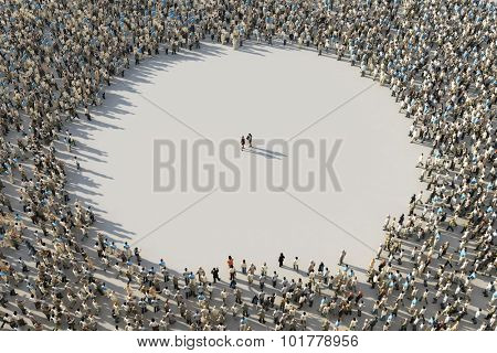 frame of crowds