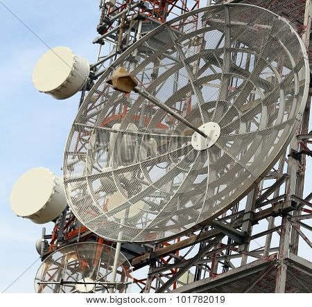 Telecommunications Antennas Of Television And Telephone Signals