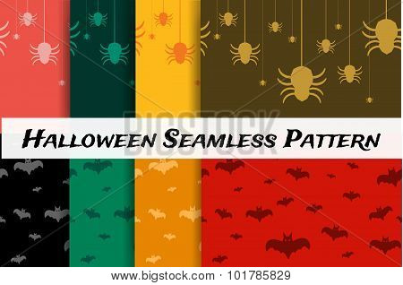 Halloween vector background seamless pattern