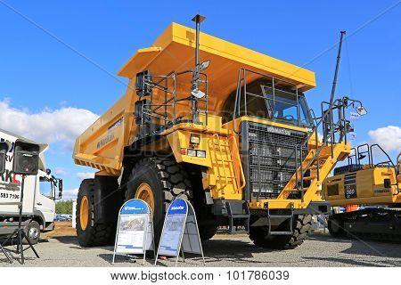 Komatsu HD605 Rigid Dump Truck On Display