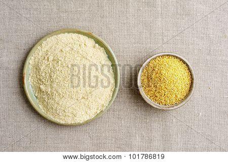Millet Seeds And Millet Flour